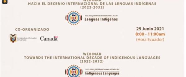 Webinar «Hacia el Decenio Internacional de las Lenguas Indígenas (2022-2032)»
