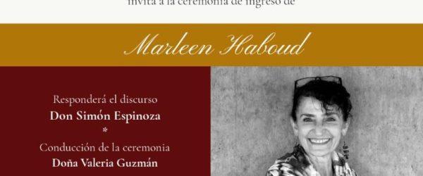 Incorporación de Marleen Haboud como miembro correspondiente de la Academia Ecuatoriana de la Lengua