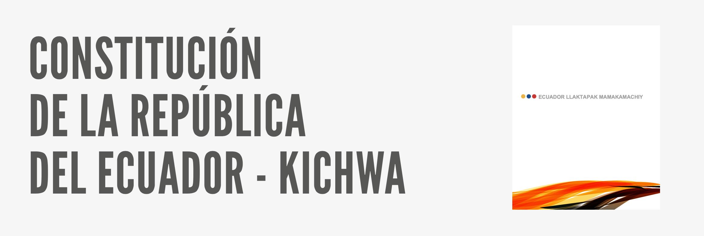 Constitucion del Ecuador - Kichwa