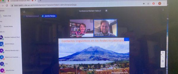 «Contacto lingüístico en los Andes ecuatorianos», Universidad de Innsbruck, Austria.